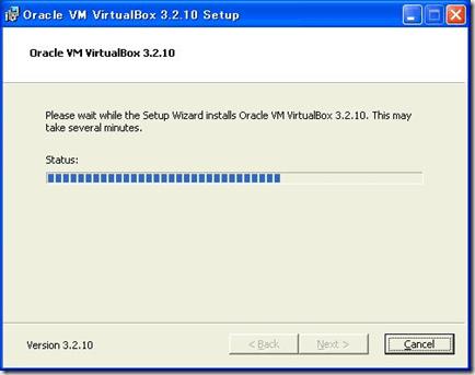 VirtualBox v3.2.10のインストール